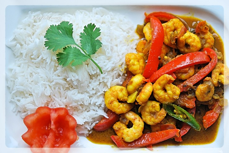 Prawn Capsicum Curry | YourFoodFantasy.com