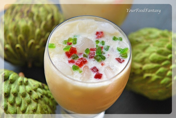 Custard Apple Recipes - Milkshake Recipes - YourFoodFantasy.com