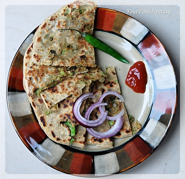 Broccoli Paratha | Broccoli Recipes | Your Food Fantasy