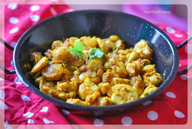 Masala Arbi Recipe | Your Food Fantasy