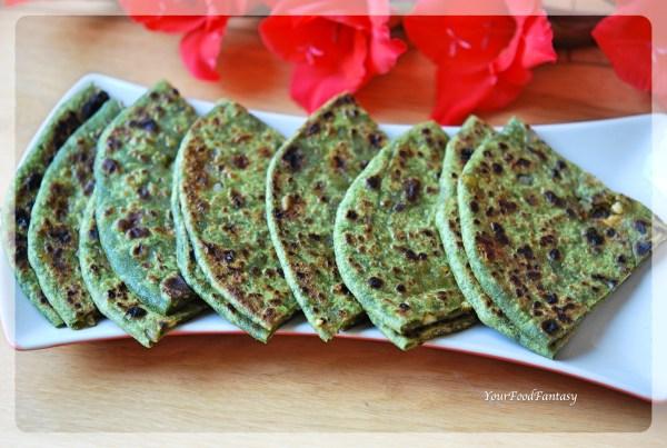 Palak Paneer Paratha | Your Food Fantasy