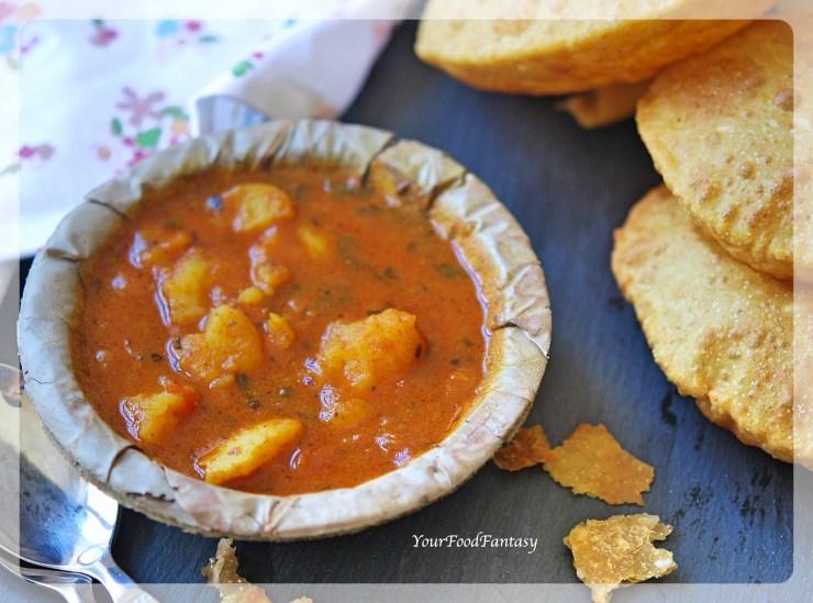 Aalo Tamatar Sabzi | Aalo Ke Raseele Sabzi | Your Food Fantasy