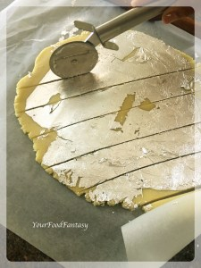 Cutting Burfi into smaller pieces | Badam Burfi Recipe | Your Food Fantasy