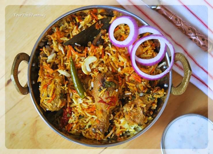 Hyderabadi Chicken Dum Biryani Recipe | YourFoodFantasy.com by Meenu Gupta