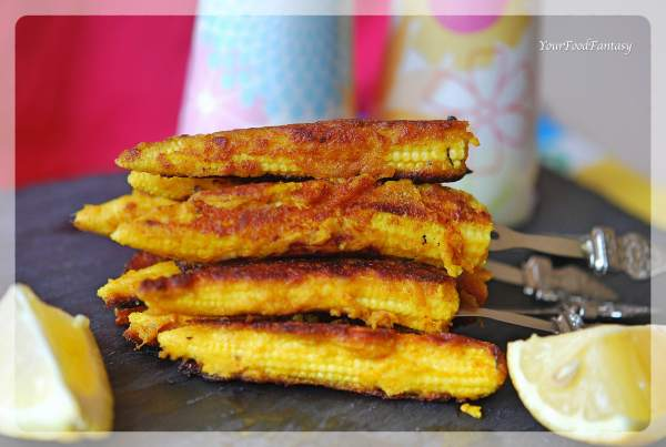 Baby corn Satay Recipe | YourFoodFantasy.com by Meenu Gupta