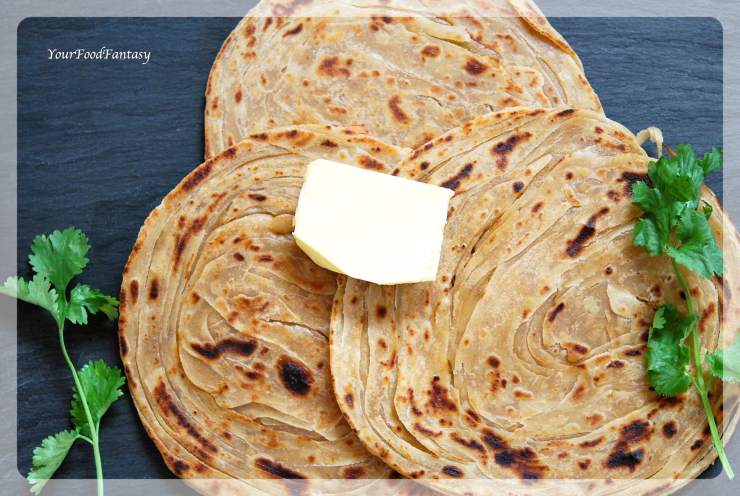 Layered Laccha Paratha Recipe | Your Food Fantasy