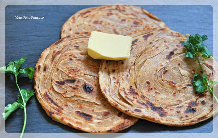 Layered Laccha Paratha Recipe | YourFoodFantasy.com