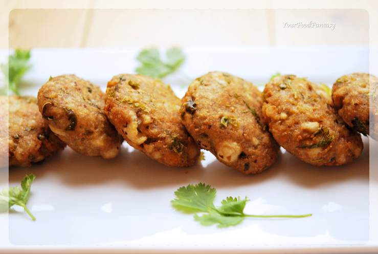 Makhane Ke Cutlet - Foxnut Seeds Cutlet Recipe | YourFoodFantasy.com