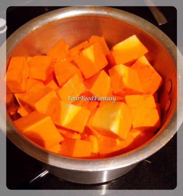 Paneer cubes for Kadai Paneer | Your Food Fantasy