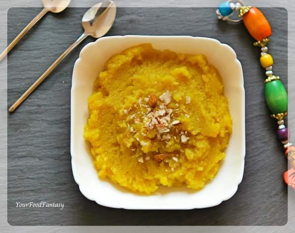 Almond Badam Halwa Recipe | Your Food Fantasy