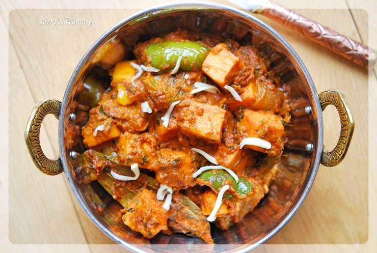 Easy Restaurant Style Kadai Paneer Recipe | Your Food Fantasy