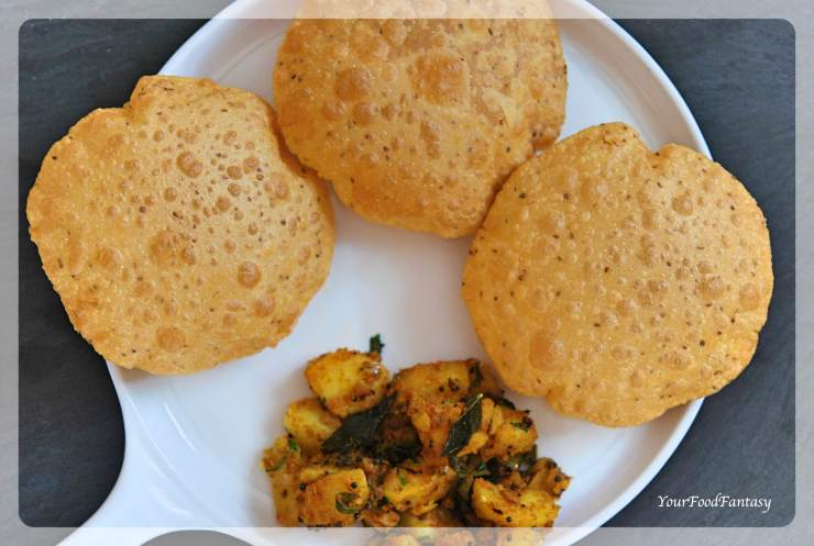 How to make perfect puffed poori   Ajwain Puri   Your Food Fantasy