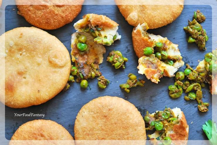 Matar Kachori Recipe   Green Pea Stuffed Pastry   Your Food Fantasy