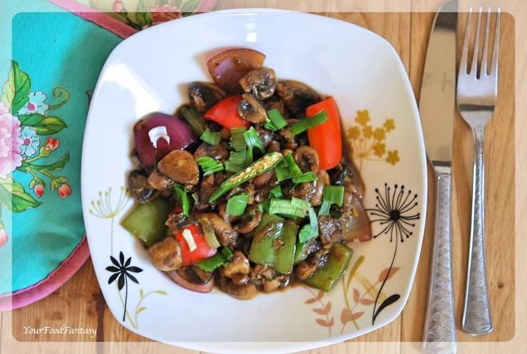 Chilli Mushroom | Mushroom Recipes | Your Food Fantasy