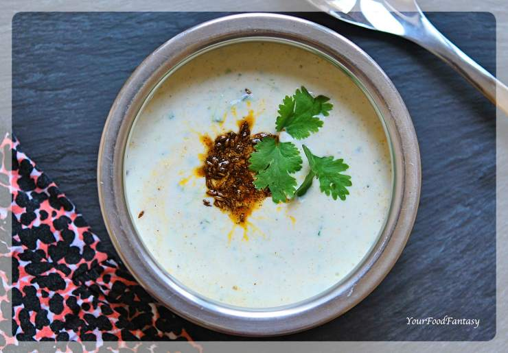 Cucumber Raita Recipe | Raita Recipes | Your Food Fantasy