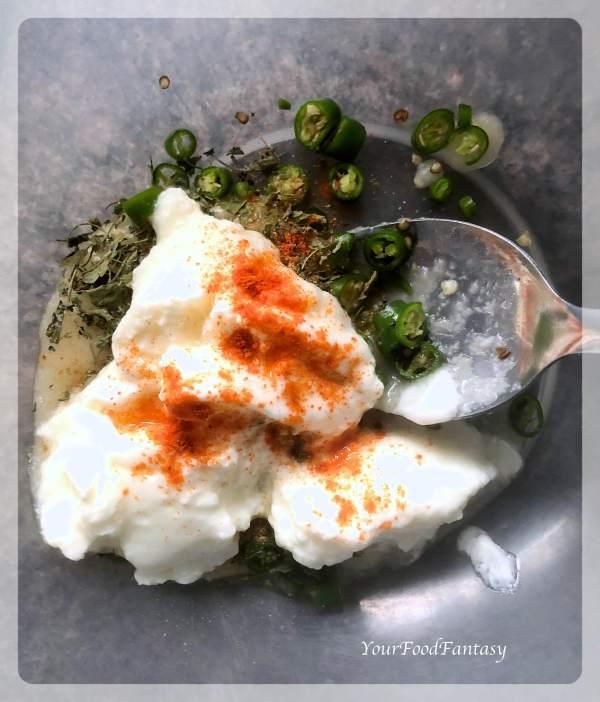 Marination for Garlic Chilli Prawn Skewers Recipe | Your Food Fantasy