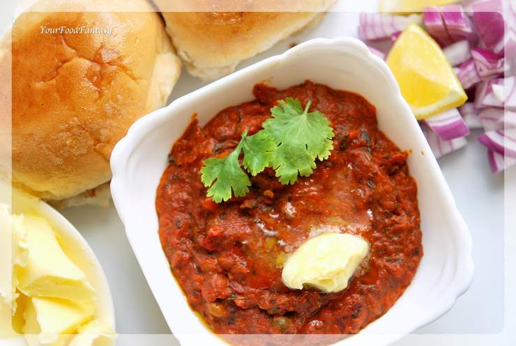 Mumbai Pav Bhaji Recipe | YourFoodFantasy.com
