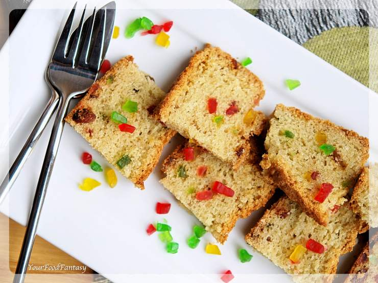 Tutti Frutti Cake Recipe | YourFoodFantasy.com by Meenu Gupta