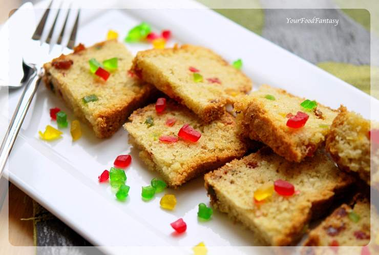 Tutti Frutti Cake Recipe | YourFoodFantasy.com
