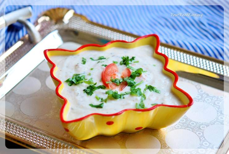 Vegetable Raita Recipe | Raita Recipes | YourFoodFantasy.com by Meenu Gupta