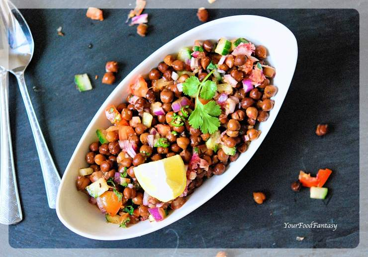 Chana Chaat | Black Chickpea Chaat | YourFoodFantasy.com