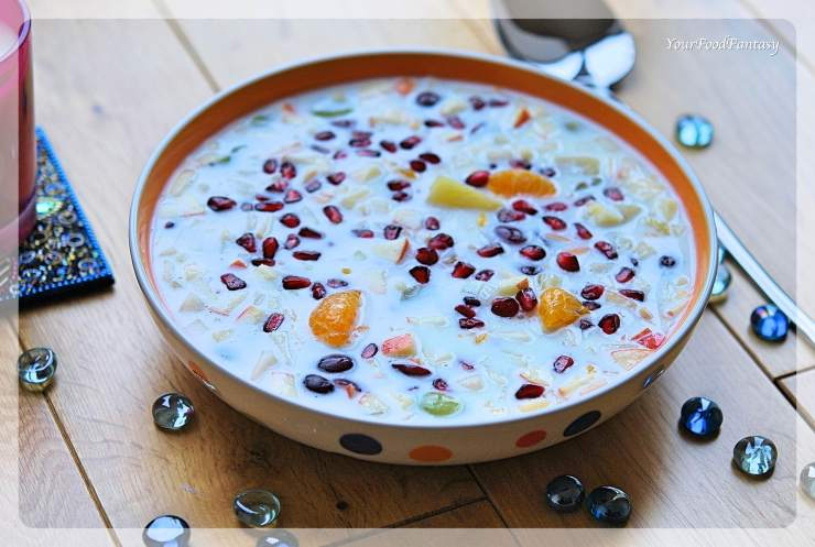 Mixed Fruit Raita | Navratri Raita | YourFoodFantasy.com
