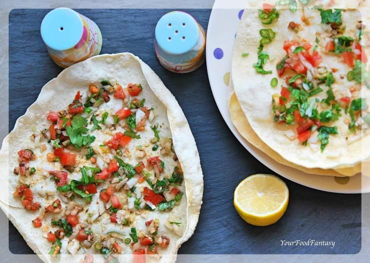 Mumbai Masala Papad Recipe | Your Food Fantasy