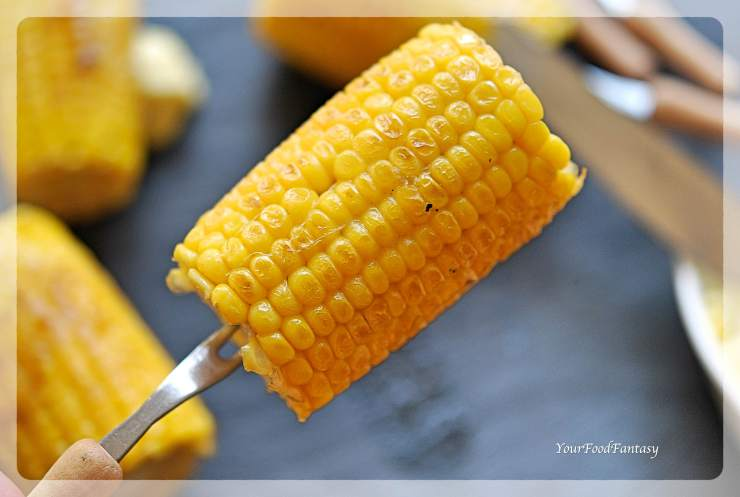 Nandos Style Corn On The Cob Recipe | YourFoodFantasy.com by Meenu Gupta