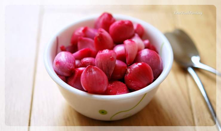 Red Pickled Onion Recipe | Sirke Wali Pyaz Recipe | YourFoodFantasy.com