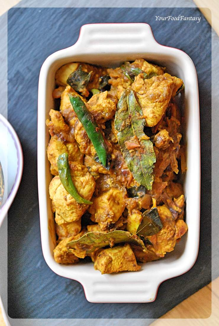 South Indian Style Dry Chicken | YourFoodFantasy.com