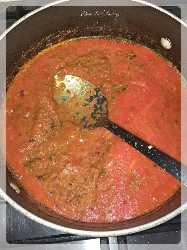 Tomato Gravy For Dal Bukhara