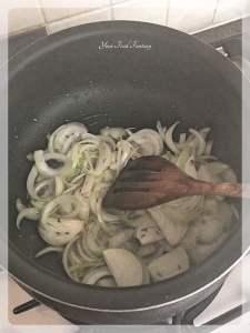 Frying Onion | Biryani Recipe for Lamb