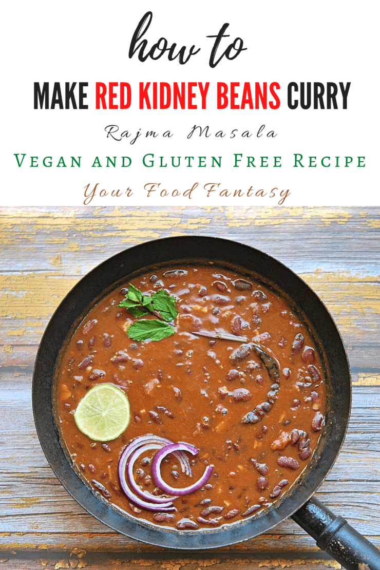 Red Kidney Beans Curry | Rajma Masala | Your Food Fantasy