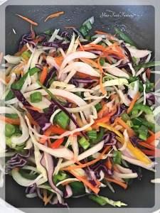 Saute Vegetables for Hakka Noodles
