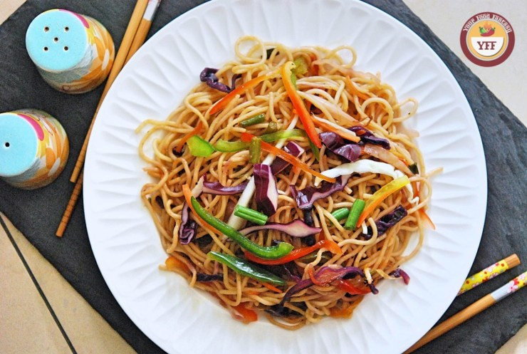 Vegetable Hakka Noodles Recipe | Indo Chinese Cuisine