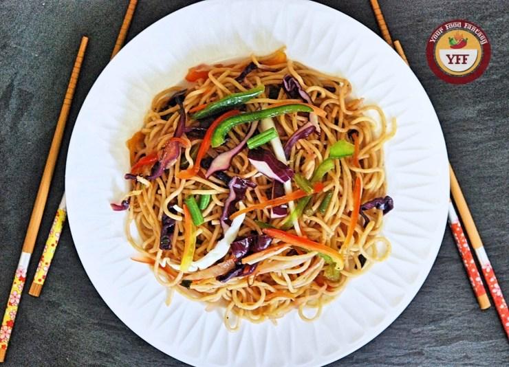 Vegetable Hakka Noodles Recipe | YourFoodFantasy.com by Meenu Gupta