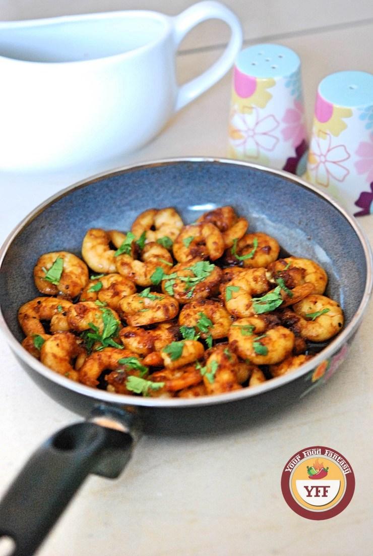 Honey Garlic Prawns   Easy Prawn Recipes   YourFoodFantasy.com