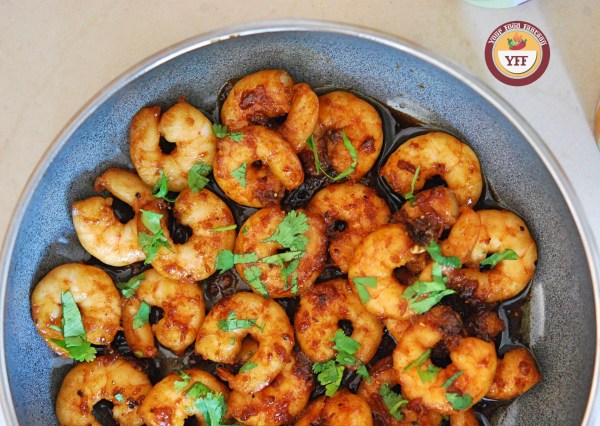 Honey Garlic Prawns | Prawn Recipes | YourFoodFantasy.com