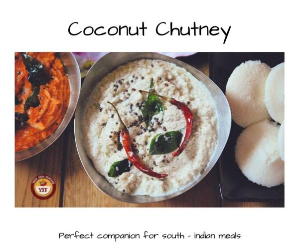South Indian Style Coconut Chutney | YourFoodFantasy.com