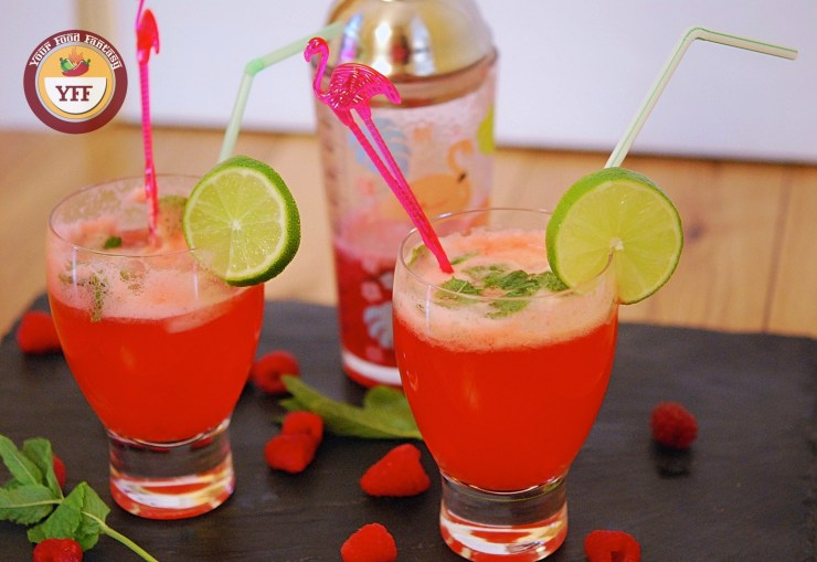 Raspberry Mojito Mocktail | YourFoodFantasy.com