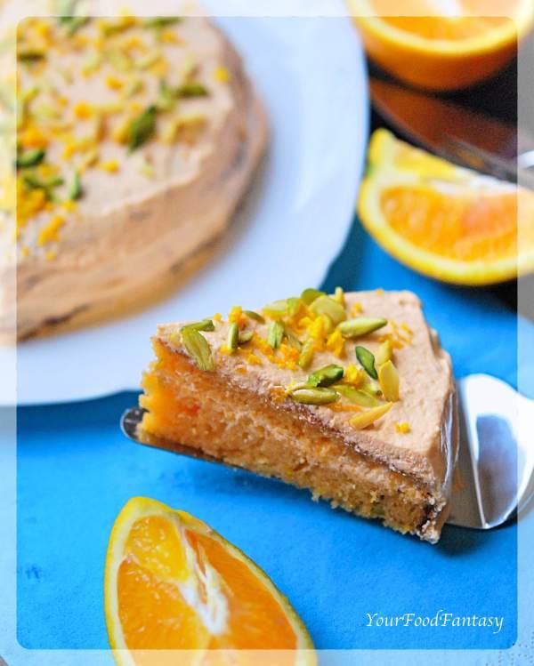Orange Pistachio Cake Homemade Recipe   Your Food Fantasy