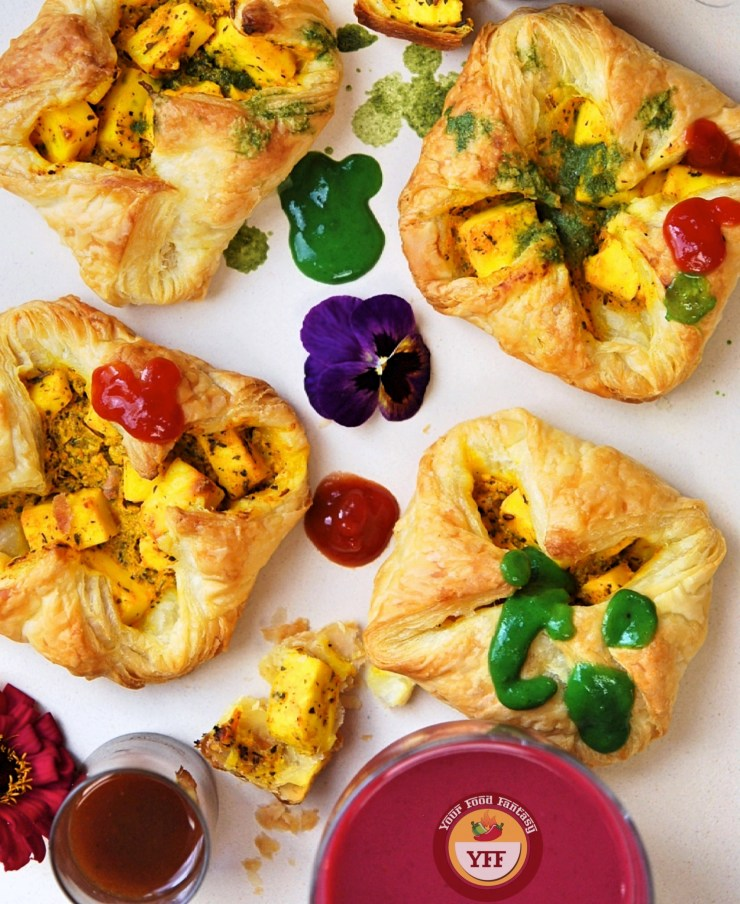Paneer Tikka Pockets | Paneer Tikka Parcels | Paneer Recipes - Your Food Fantasy