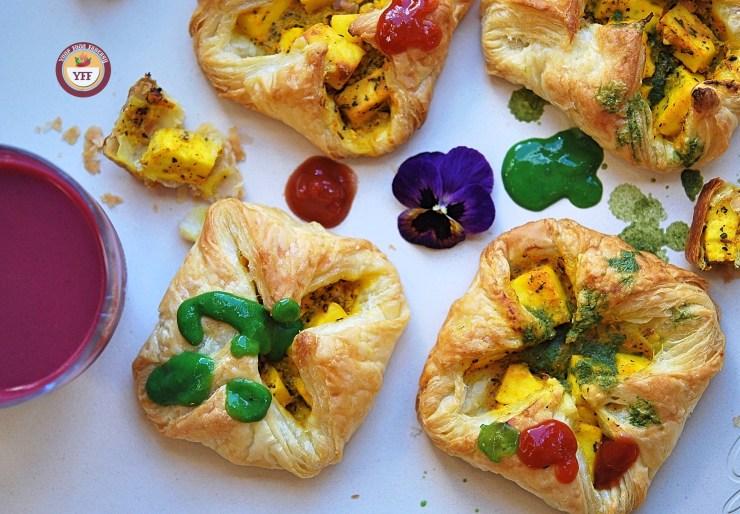 Paneer Tikka Pockets | Paneer Tikka Parcels | Paneer Recipes | Your Food Fantasy