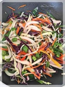 Saute Vegetables for Hakka Noodles