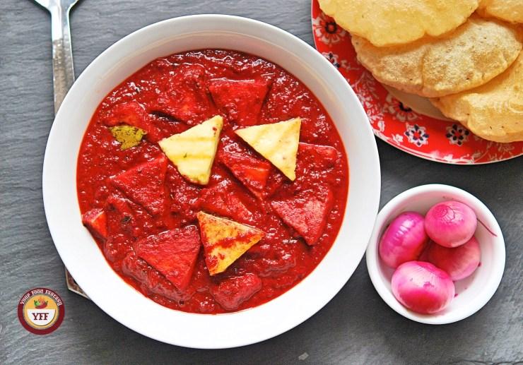 Beetroot Paneer Curry | Paneer Recipes | YourFoodFantasy.com