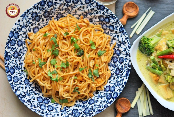 Fusion Recipes and Fusion Food | Tandoori Egg Noodles and Green Thai Curry Recipe | YourFoodFantasy.com