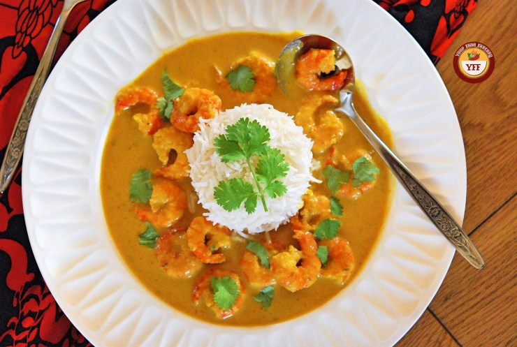 Malai Prawn Curry Recipe | Your Food Fantasy