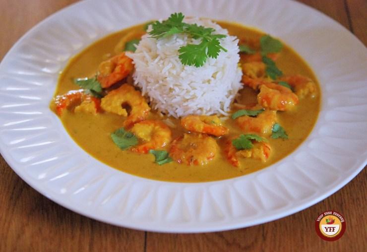 Prawn Malai Curry Recipe | Prawn Recipes | Your Food Fantasy