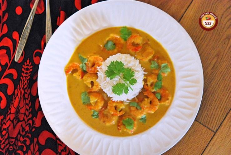 Prawn Malai Curry Recipe | Your Food Fantasy