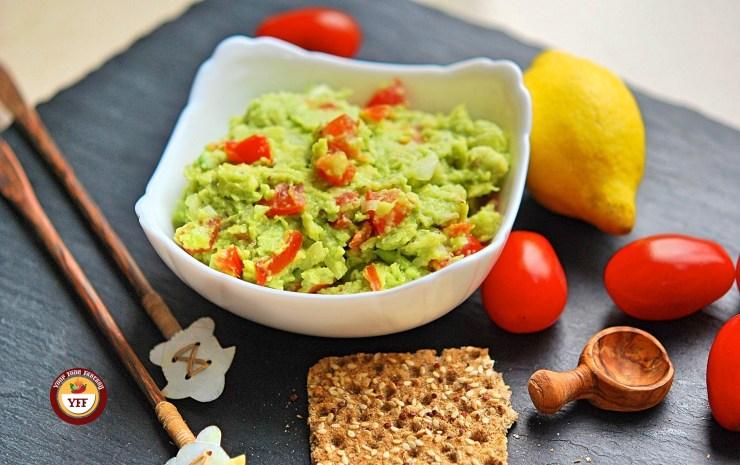 Chunky Avocado Guacamole Recipe | YourFoodFantasy.com by Meenu Gupta